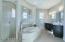 Sports Shower overlooks elegant soaking tub