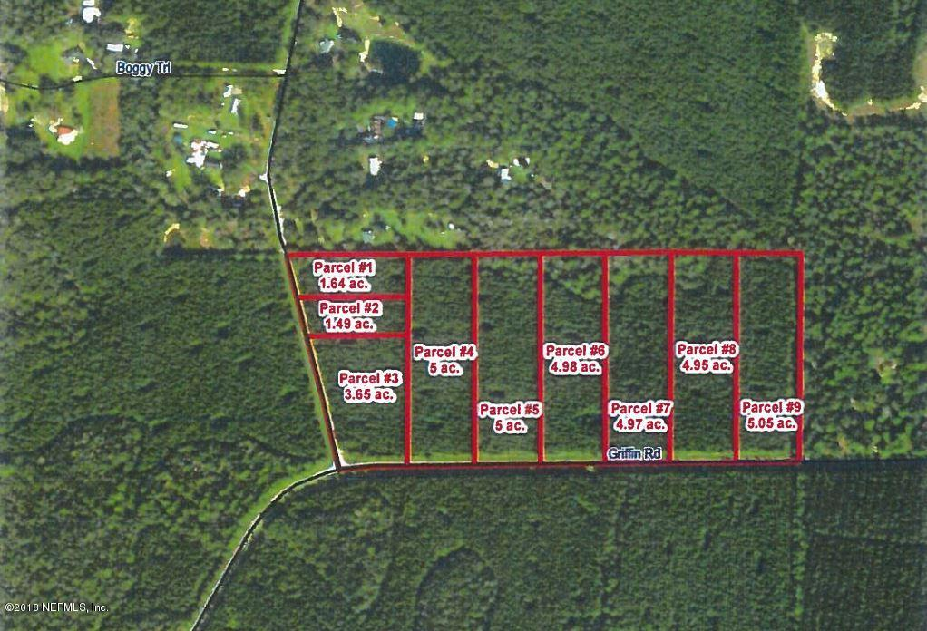 LOT 5 GRIFFIN, CALLAHAN, FLORIDA 32011, ,Vacant land,For sale,GRIFFIN,920208