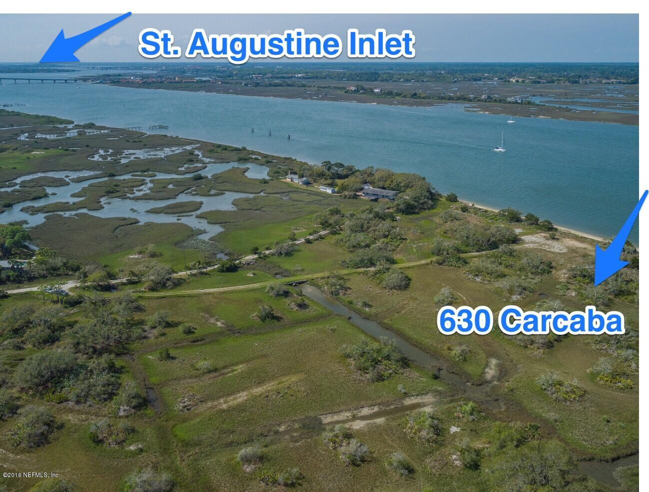 630 CARCABA, ST AUGUSTINE, FLORIDA 32084, ,Vacant land,For sale,CARCABA,921636