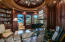 OCEAN VIEW,, WOOD BEAMED CEILING,CUSTOM WOOD PANELING WITH ENKEBOLL TRIM,BUILT IN BOOKSHELVES