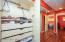 custom cabinetry between closets