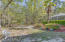 Tree-shaded Side Yard leading to Preserve. Gorgeous Azaleas!