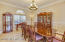Large Dining Room with Custom Chair Rail & Wainscoting