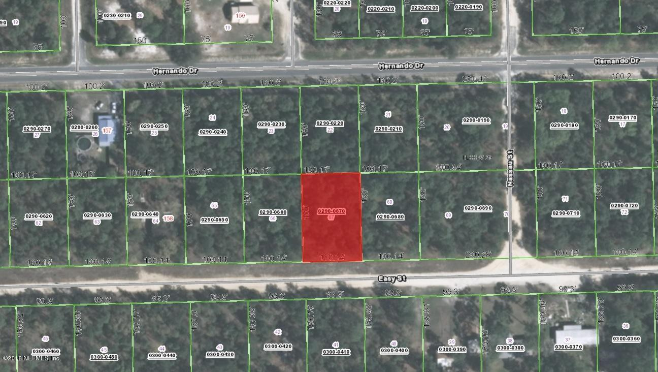 0 EASY, FLORAHOME, FLORIDA 32140, ,Vacant land,For sale,EASY,930365
