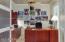 Home Office with Custom Rain Glass Double Doors