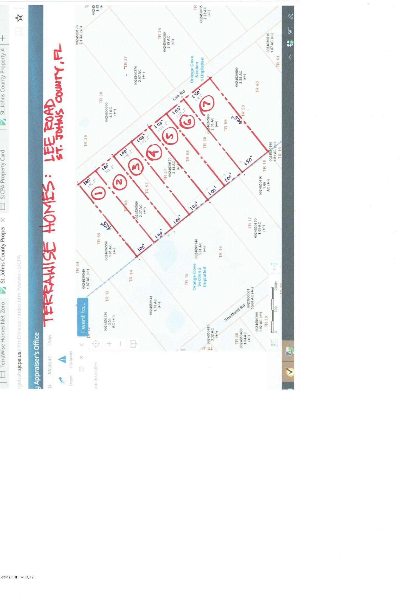 0 LEE, JACKSONVILLE, FLORIDA 32259, ,Vacant land,For sale,LEE,909481