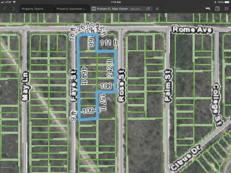 00 FAYE ST, INTERLACHEN, FLORIDA 32148, ,Vacant land,For sale,FAYE ST,931775