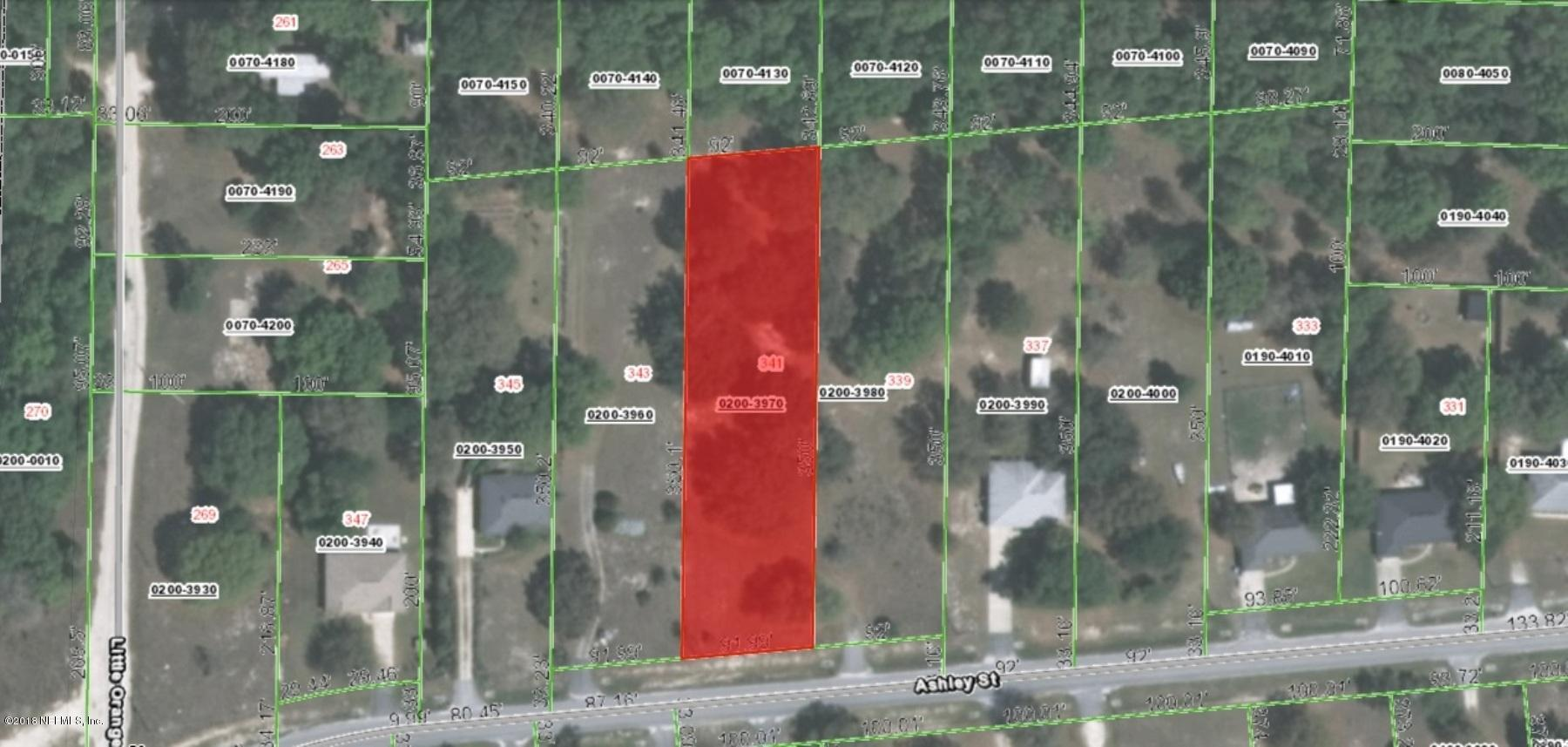 341 ASHLEY, HAWTHORNE, FLORIDA 32640, ,Vacant land,For sale,ASHLEY,935985