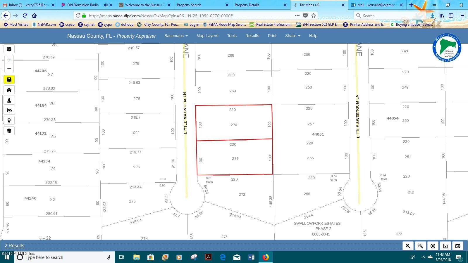 0 LITTLE MAGNOLIA, CALLAHAN, FLORIDA 32011, ,Vacant land,For sale,LITTLE MAGNOLIA,940024