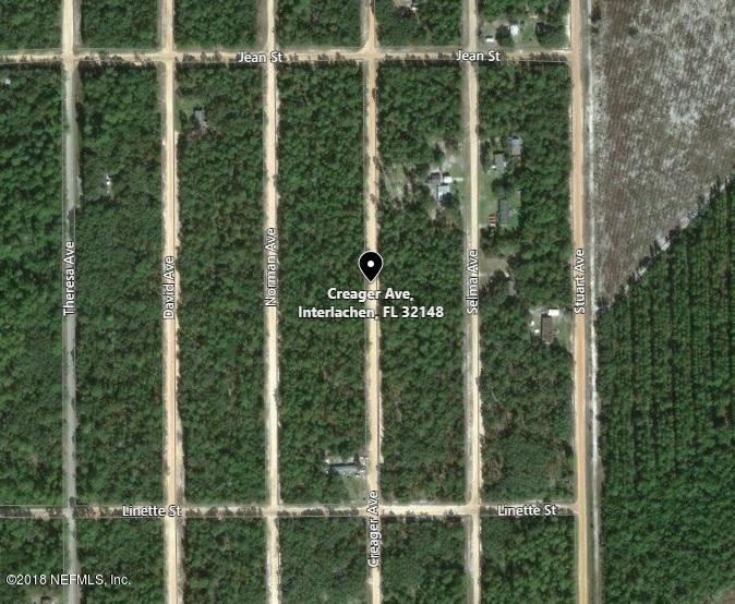 1020 CREAGER, INTERLACHEN, FLORIDA 32148, ,Vacant land,For sale,CREAGER,939340