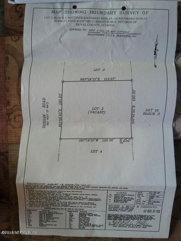 002 DERHAM, JACKSONVILLE, FLORIDA 32246, ,Vacant land,For sale,DERHAM,946290
