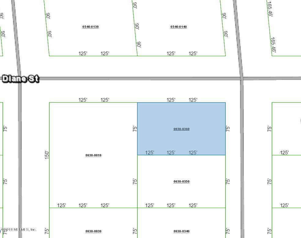 0630-0360 DIANE, INTERLACHEN, FLORIDA 32148, ,Vacant land,For sale,DIANE,954194