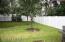 Shaded backyard.