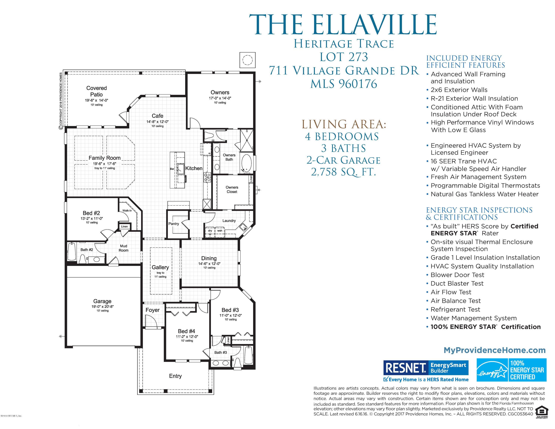 711 VILLAGE GRANDE, PONTE VEDRA, FLORIDA 32081, 4 Bedrooms Bedrooms, ,3 BathroomsBathrooms,Residential - single family,For sale,VILLAGE GRANDE,960176