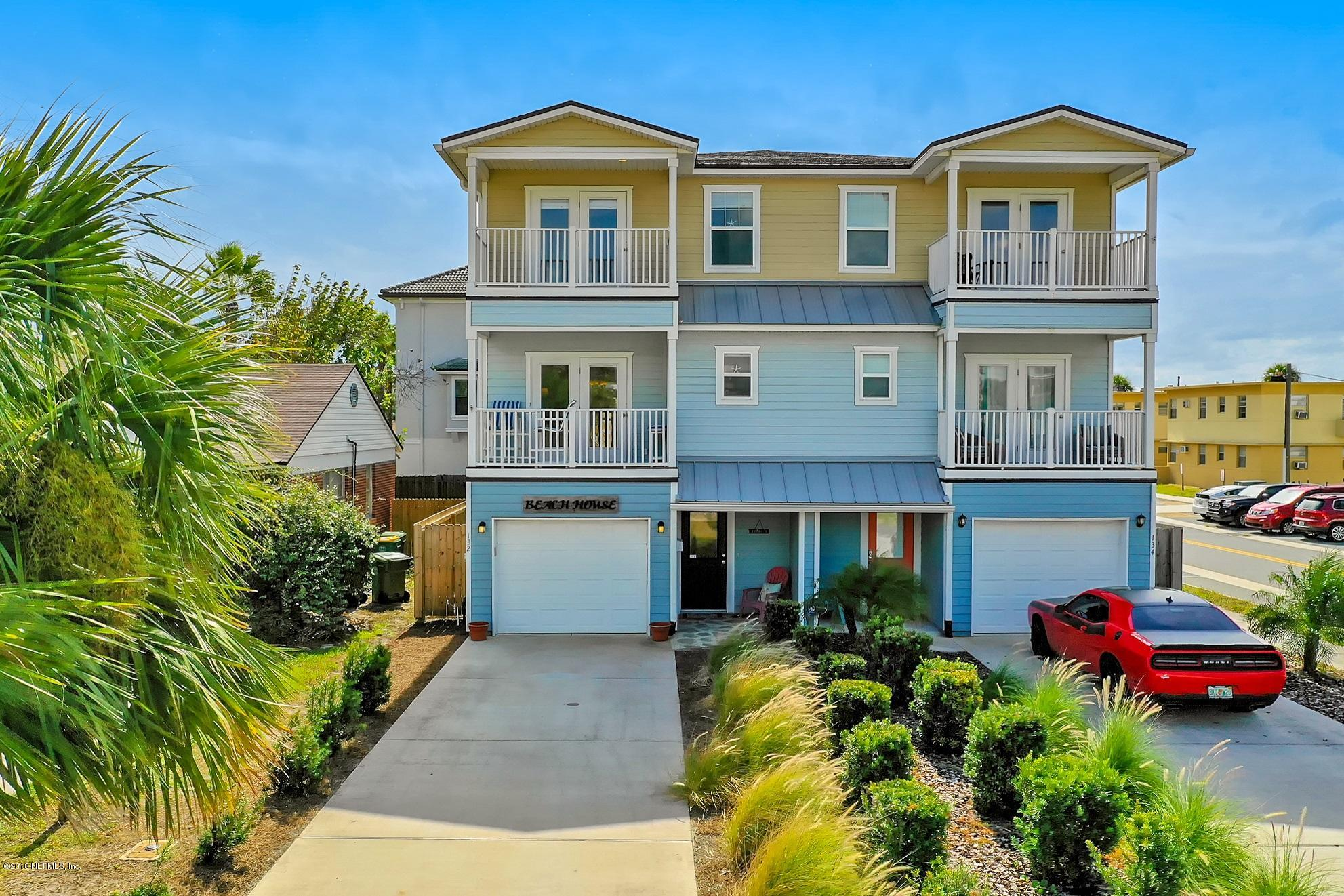 132 9TH, JACKSONVILLE BEACH, FLORIDA 32250, 4 Bedrooms Bedrooms, ,3 BathroomsBathrooms,Residential - townhome,For sale,9TH,964227