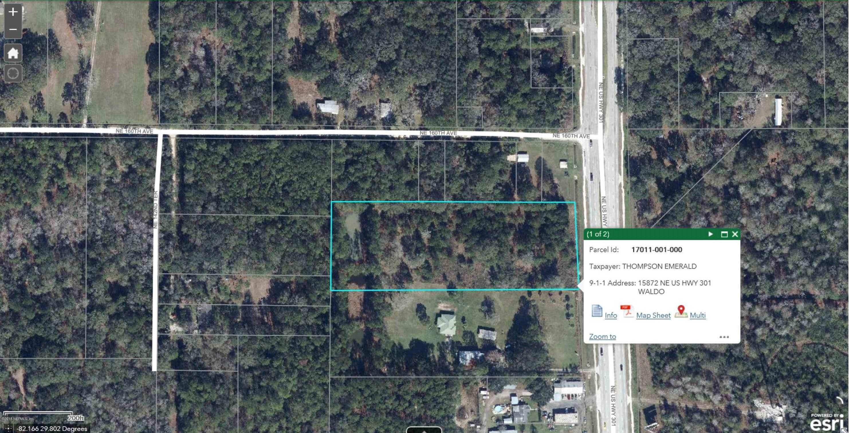 15872 US HIGHWAY 301, WALDO, FLORIDA 32694, ,Vacant land,For sale,US HIGHWAY 301,966197