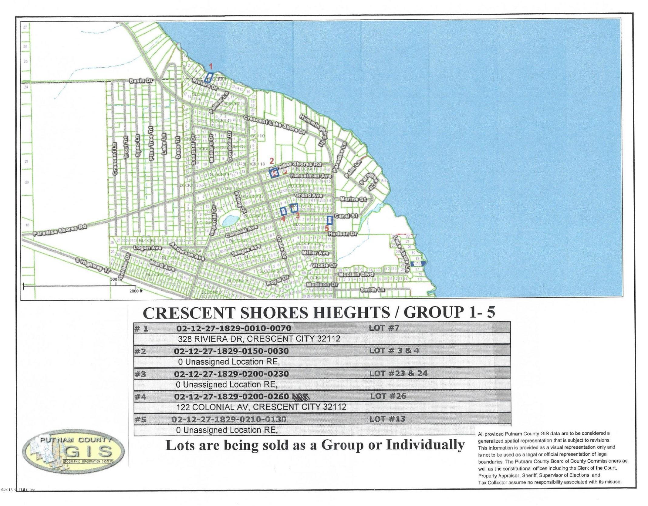 328 RIVIERA, CRESCENT CITY, FLORIDA 32112, ,Vacant land,For sale,RIVIERA,967484