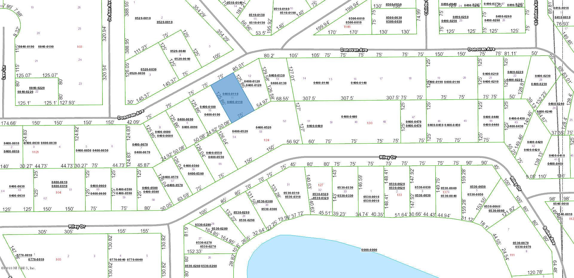 0 DONAVAN, INTERLACHEN, FLORIDA 32148, ,Vacant land,For sale,DONAVAN,967502