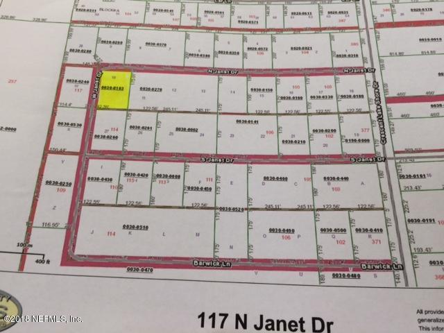 117 Janet, CRESCENT CITY, FLORIDA 32112, ,Vacant land,For sale,Janet,967522