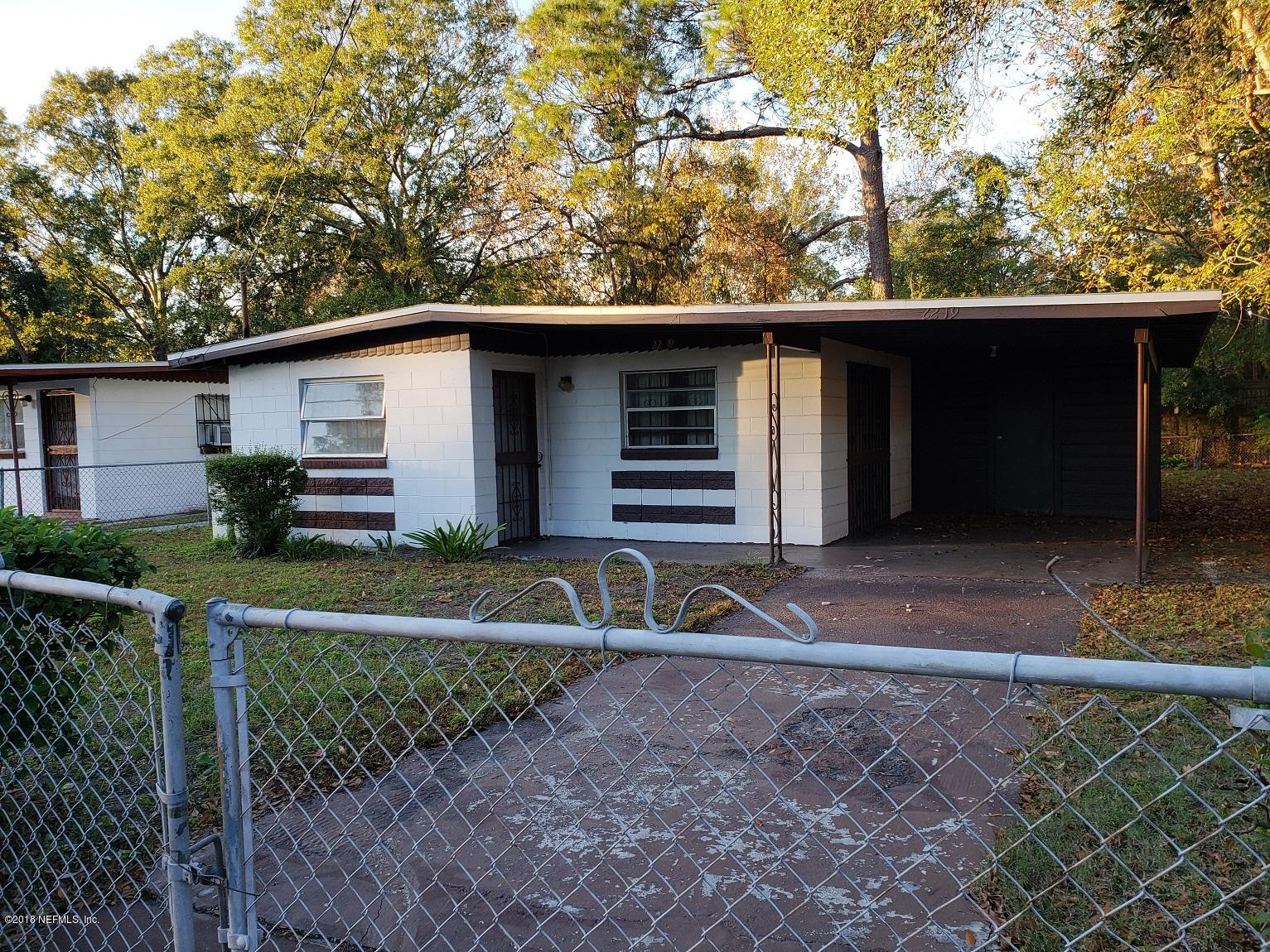 2219 18TH, JACKSONVILLE, FLORIDA 32209, 3 Bedrooms Bedrooms, ,1 BathroomBathrooms,Residential - single family,For sale,18TH,970108