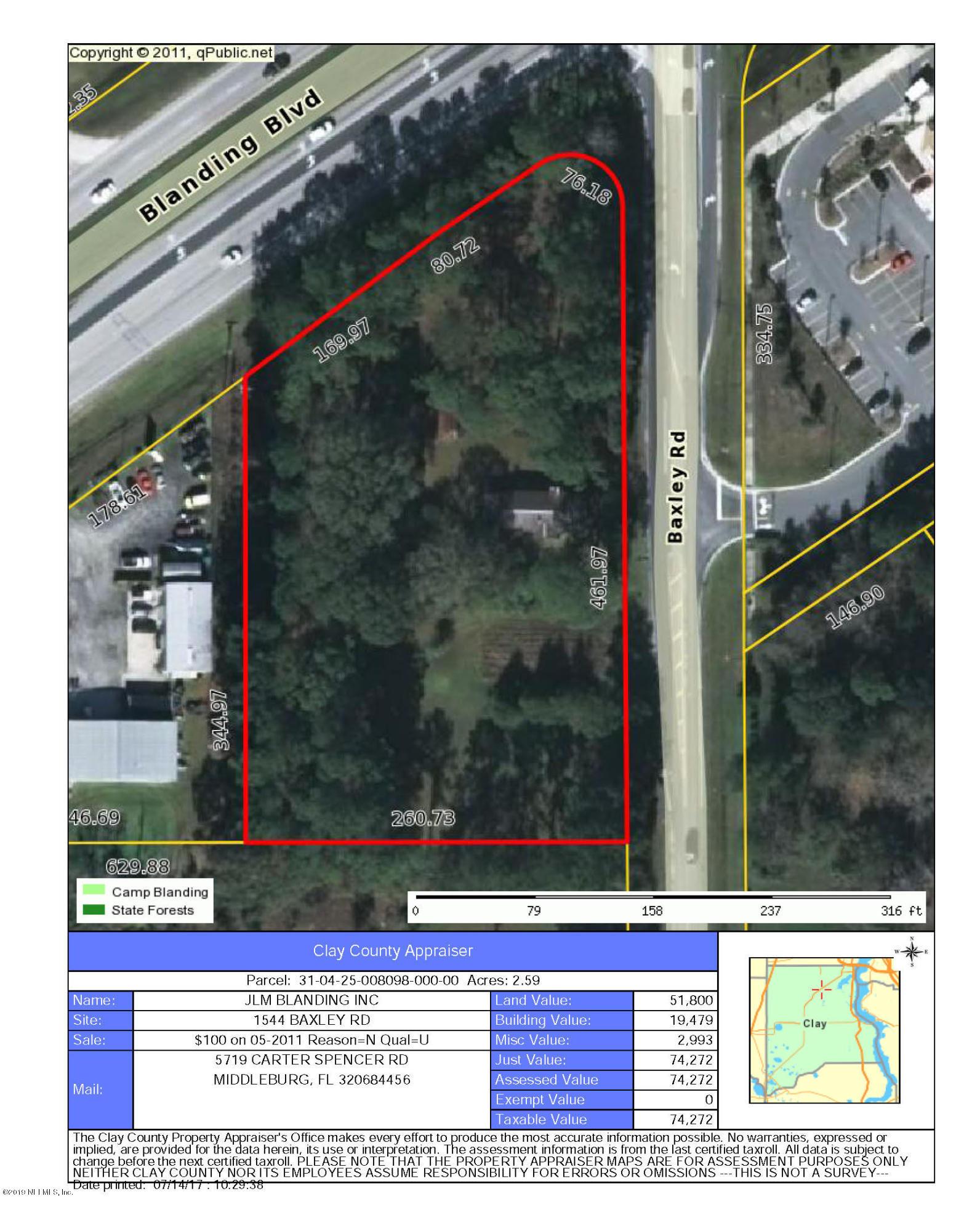 Details for 1544 Baxley Rd, MIDDLEBURG, FL 32068