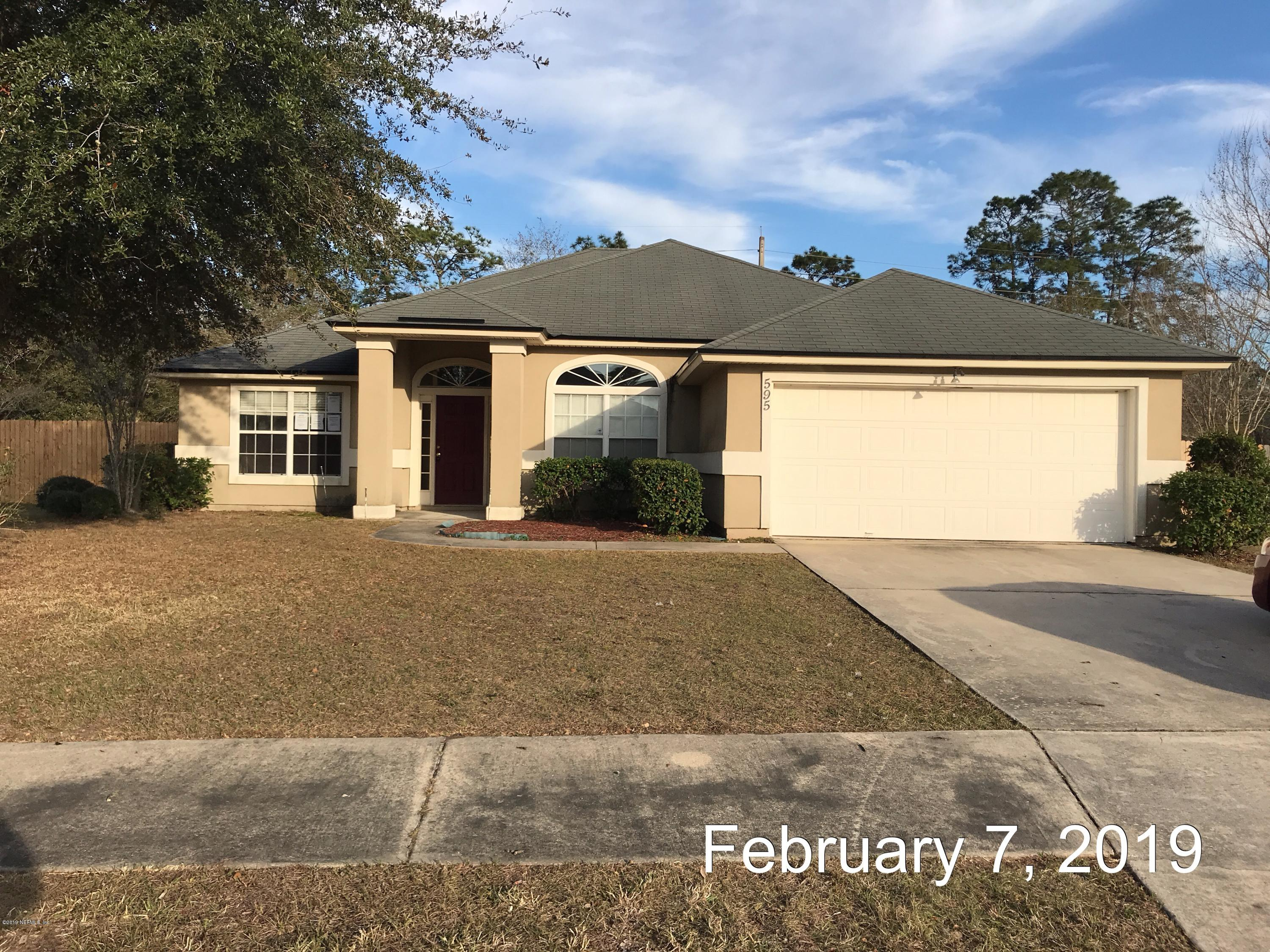 595 MARTIN LAKES, JACKSONVILLE, FLORIDA 32220, 4 Bedrooms Bedrooms, ,2 BathroomsBathrooms,Residential - single family,For sale,MARTIN LAKES,979147