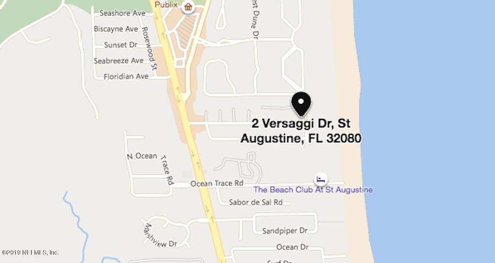 2 VERSAGGI, ST AUGUSTINE, FLORIDA 32080, 3 Bedrooms Bedrooms, ,2 BathroomsBathrooms,Residential - single family,For sale,VERSAGGI,984692