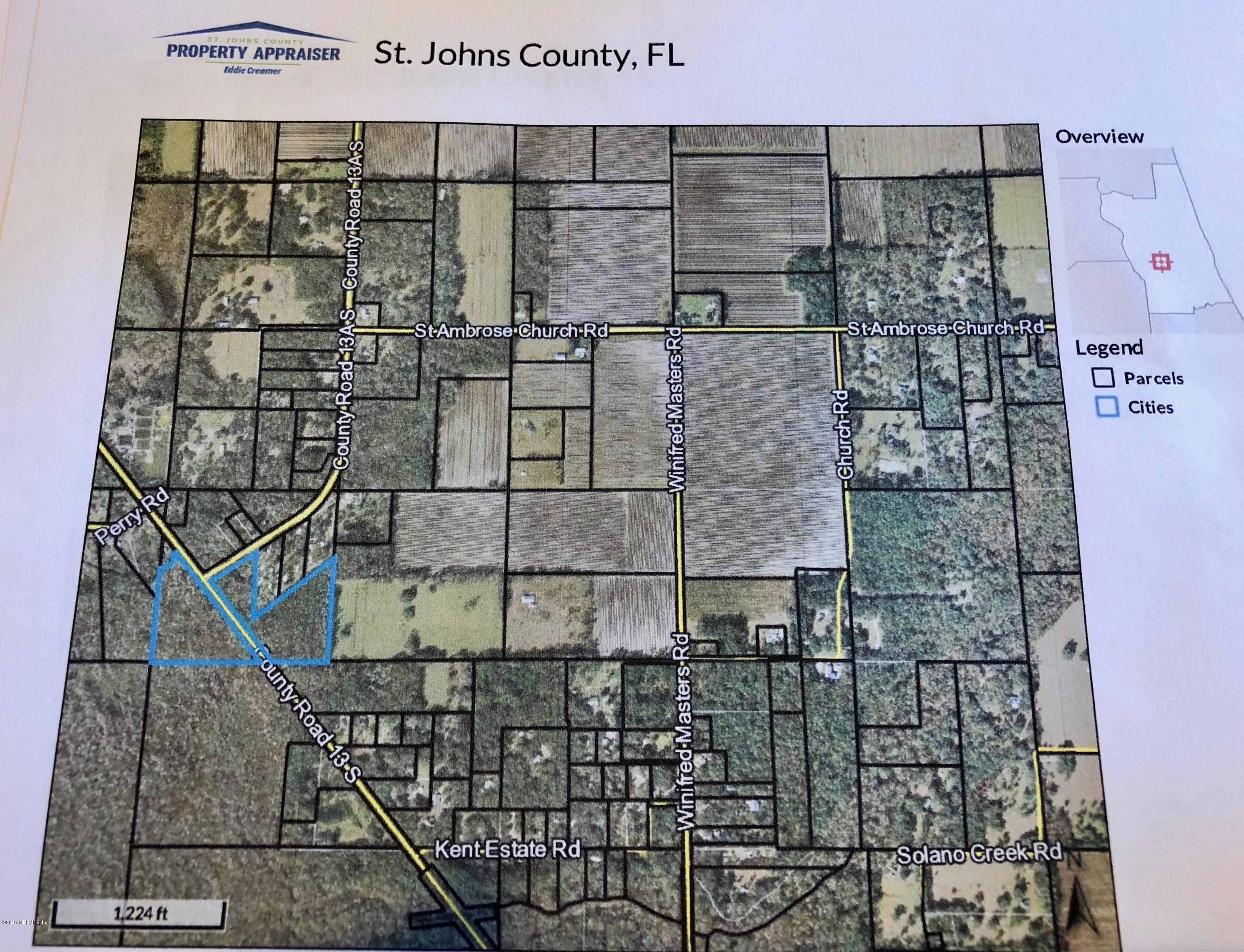 0 CR 13, ELKTON, FLORIDA 32033, ,Vacant land,For sale,CR 13,984732