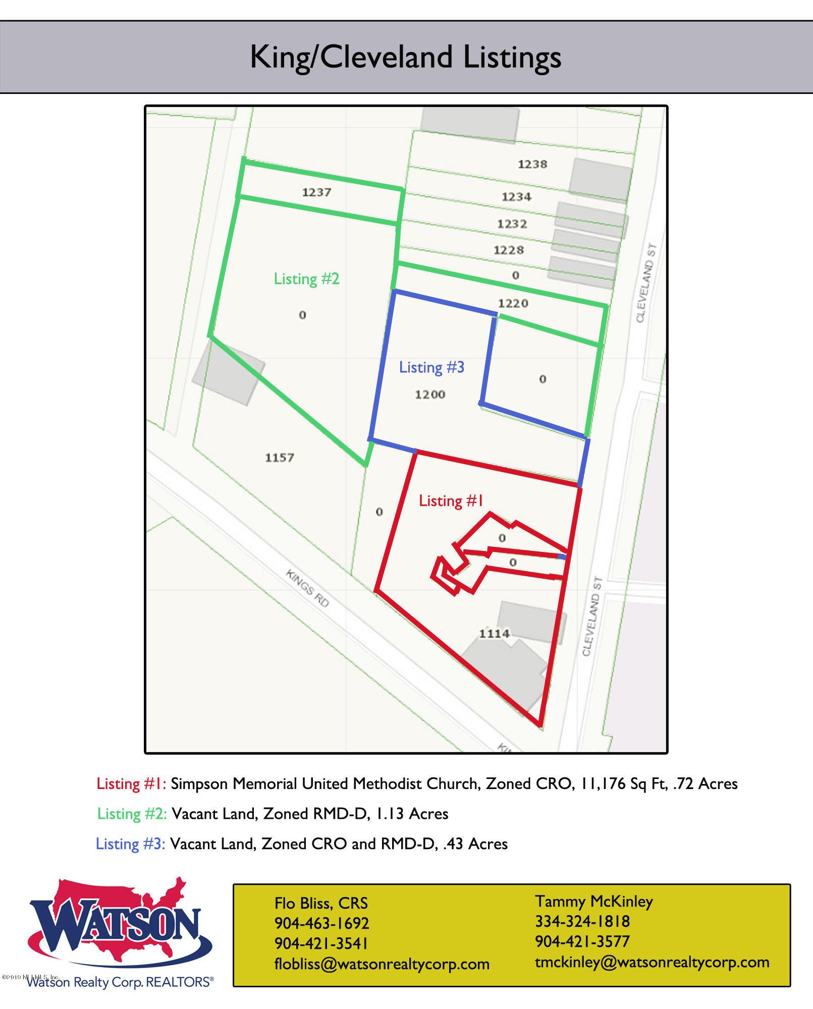 1220 CLEVELAND, JACKSONVILLE, FLORIDA 32209, ,Vacant land,For sale,CLEVELAND,984792