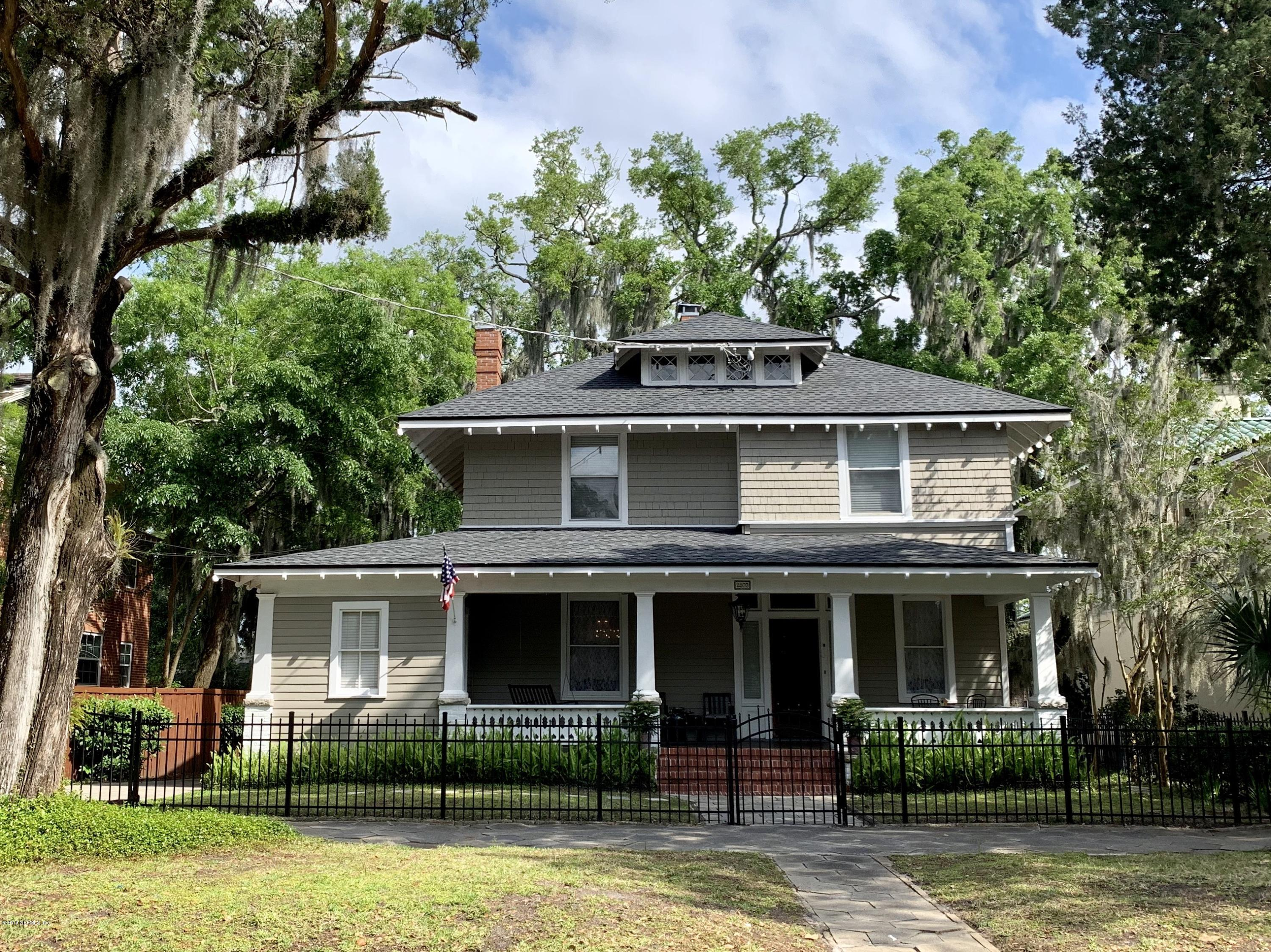 2800 RIVERSIDE, JACKSONVILLE, FLORIDA 32205, 5 Bedrooms Bedrooms, ,3 BathroomsBathrooms,Residential - single family,For sale,RIVERSIDE,989532