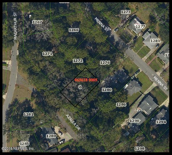 0 AZALEA, JACKSONVILLE, FLORIDA 32205, ,Vacant land,For sale,AZALEA,990217