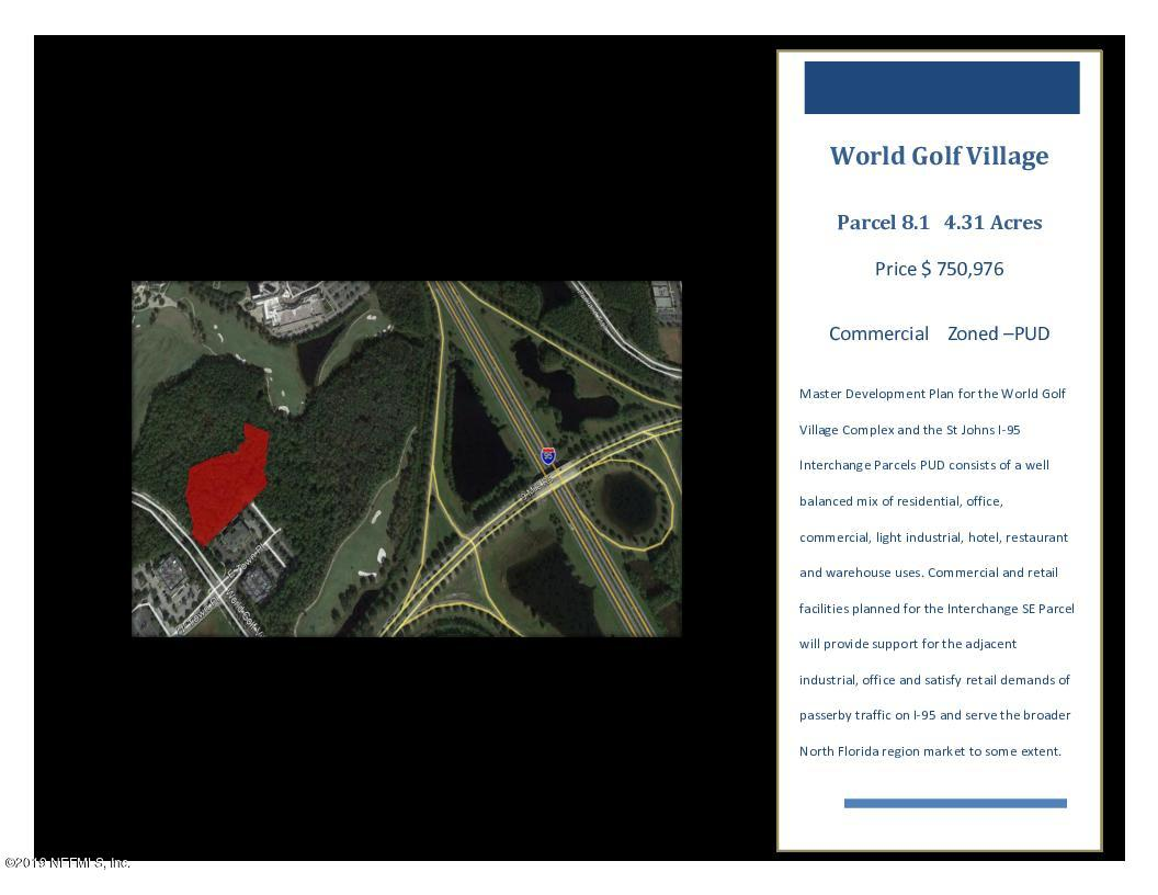 0 WORLD GOLF, ST AUGUSTINE, FLORIDA 32092, ,Commercial,For sale,WORLD GOLF,991528