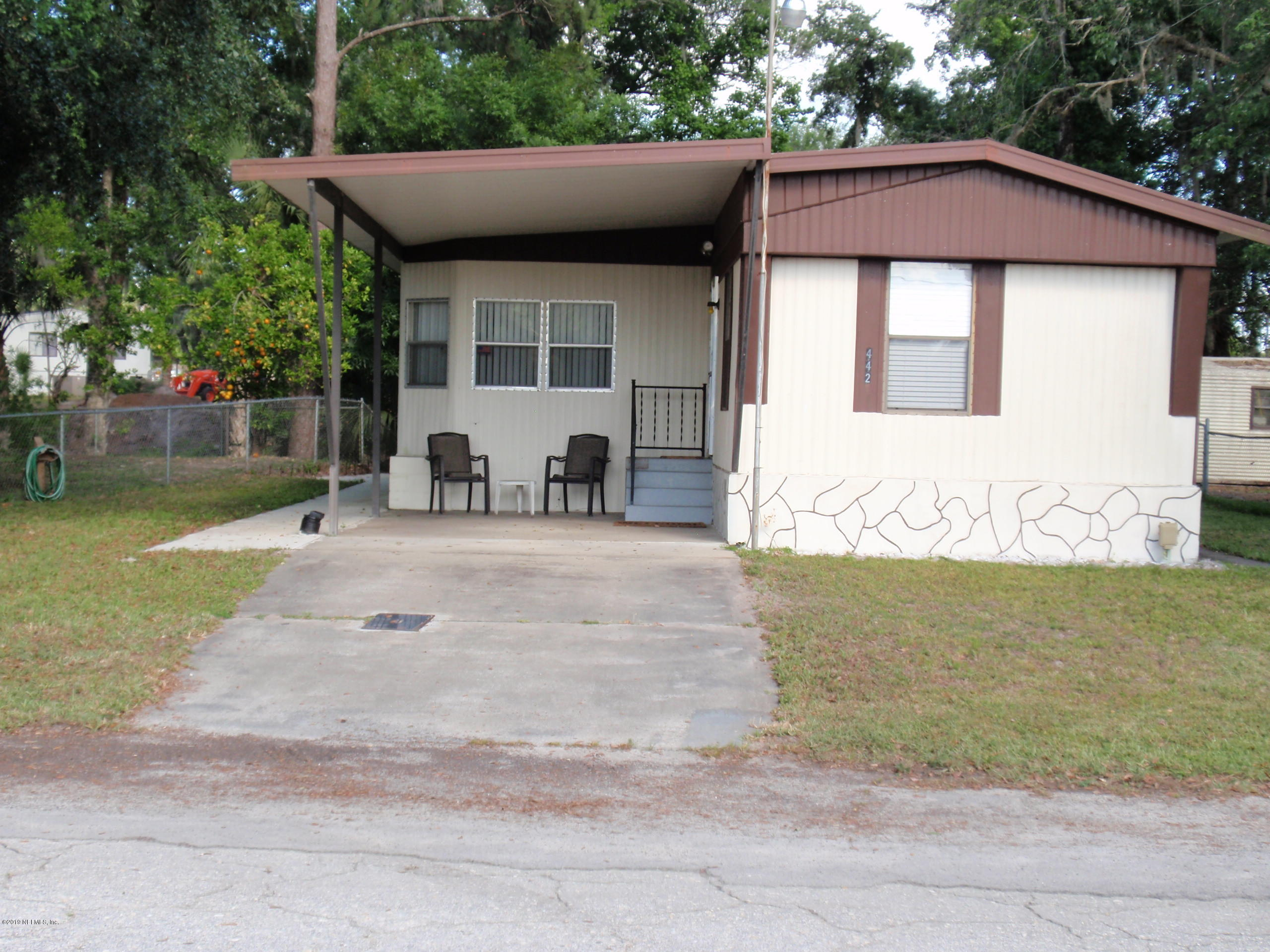 442 COVE, SATSUMA, FLORIDA 32189, 2 Bedrooms Bedrooms, ,1 BathroomBathrooms,Residential - mobile home,For sale,COVE,994970