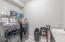 Laundry Room with Counter & Sink, Plus Samsung Pedestal Washer & Dryer