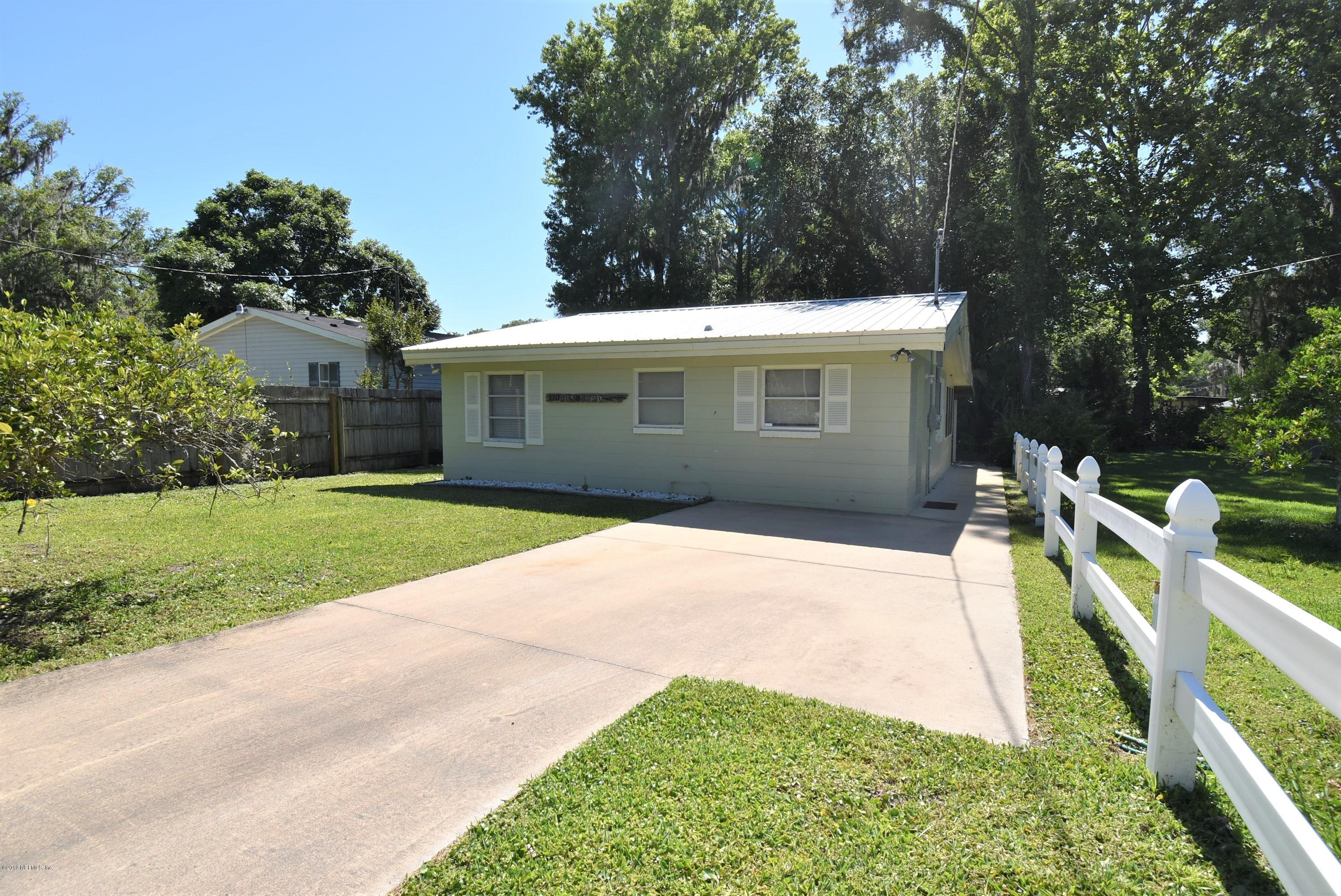 110 BASS, GEORGETOWN, FLORIDA 32139, 2 Bedrooms Bedrooms, ,1 BathroomBathrooms,Residential - single family,For sale,BASS,994996