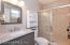 Just remodeled: tile shower, vanity, lights & mirror