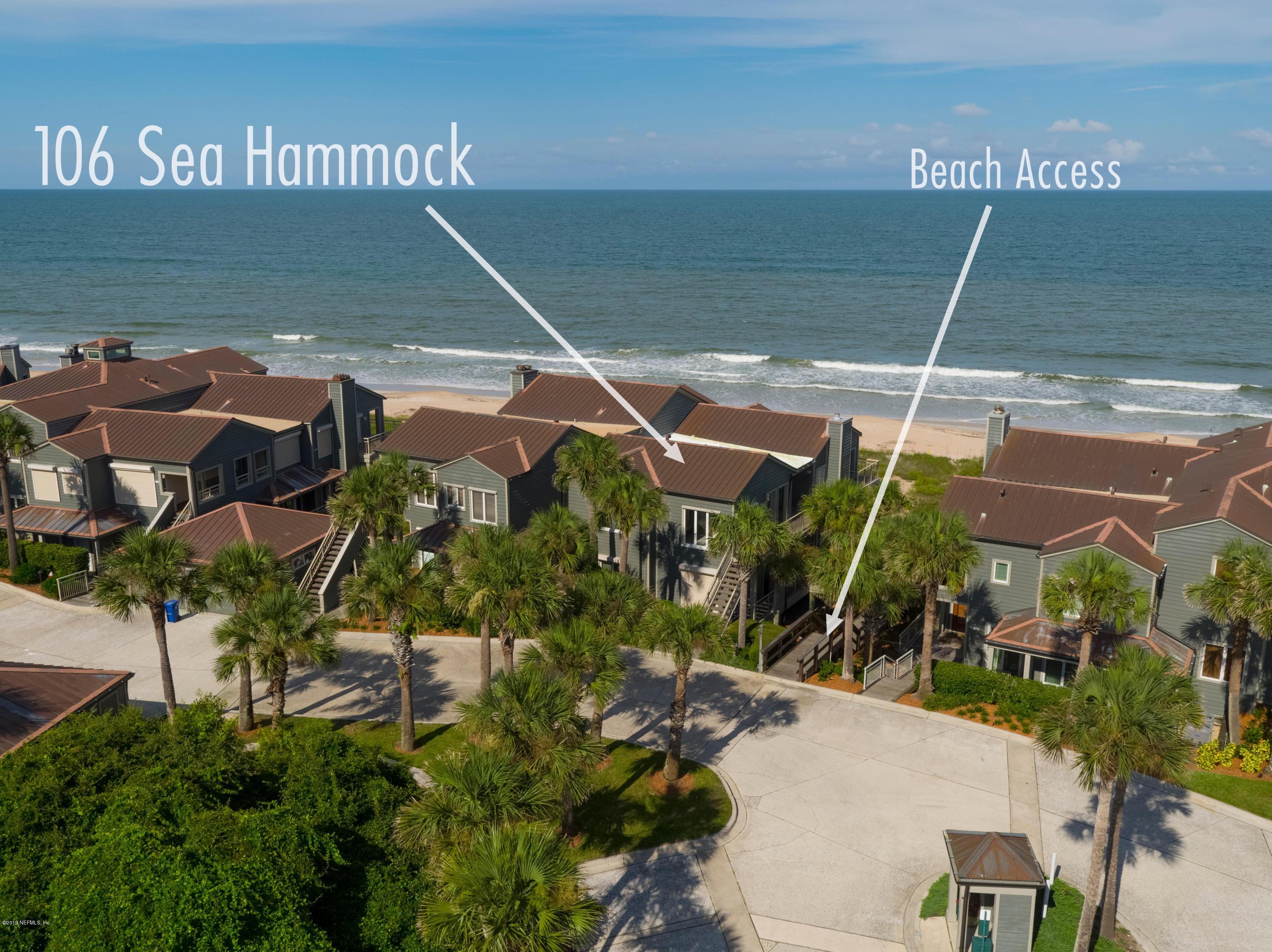 106 SEA HAMMOCK, PONTE VEDRA BEACH, FLORIDA 32082, 2 Bedrooms Bedrooms, ,2 BathroomsBathrooms,Residential - condos/townhomes,For sale,SEA HAMMOCK,1008668