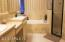 … features include a separate shower...