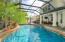 Solar heated, saltwater pool