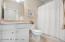 Quartz Countertops & Tiled Shower