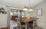 Breakfast room with sliding glass doors