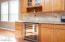 Glass Front Cabinets + Cookbook Nook