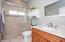 Granite Counter & Large Tile Shower