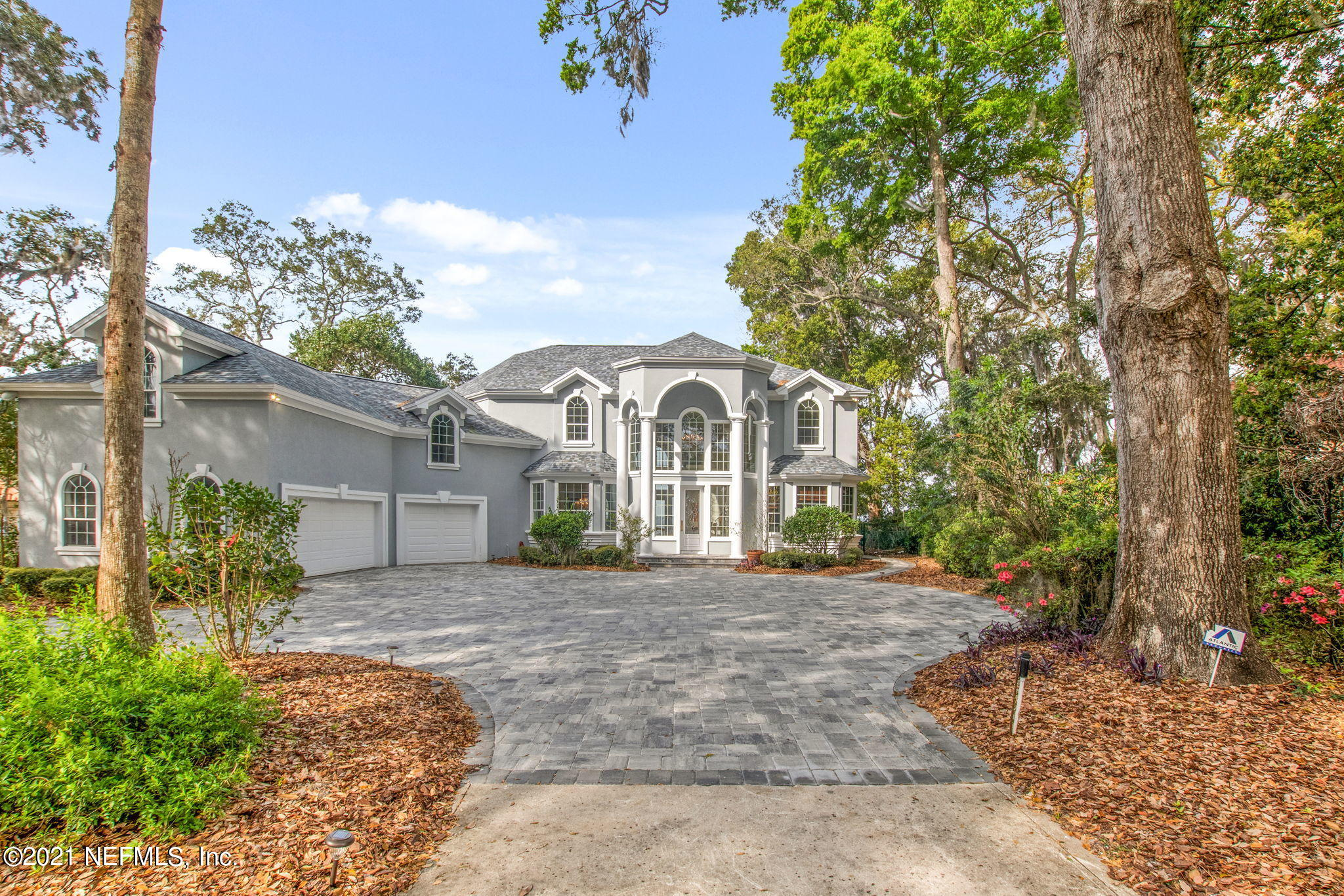 This Beautiful home  on the St. Johns River captures the breathtaking views of the evening sunsets ,from every room in this home.  Located in one of the areas that boasts of a HIGH bluff! The house sits on almost an acre of land, has a very desirable open floorplan, including a big game/bonus room above the garage. Recently updated kitchen and bath, replaced 2 A/C units, windows and French doors. Newly painted. Pavers added, dock redone, Pool resurfaced, The Bulkhead has been extended. A feature that has been grandfathered in!  This home is indeed a waterfront beauty!!! with priceless views of the river !!