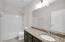 Secondary Bath with Granite Countertops and upgraded Cabinetry