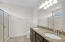 Master Bath with Granite Countertops and upgraded Cabinetry, Walk in Shower