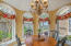 Octaganol shape offering spectacular river views, door leading out to side garden