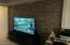 Cool Custom Brick Wall in Family Room Downstairs