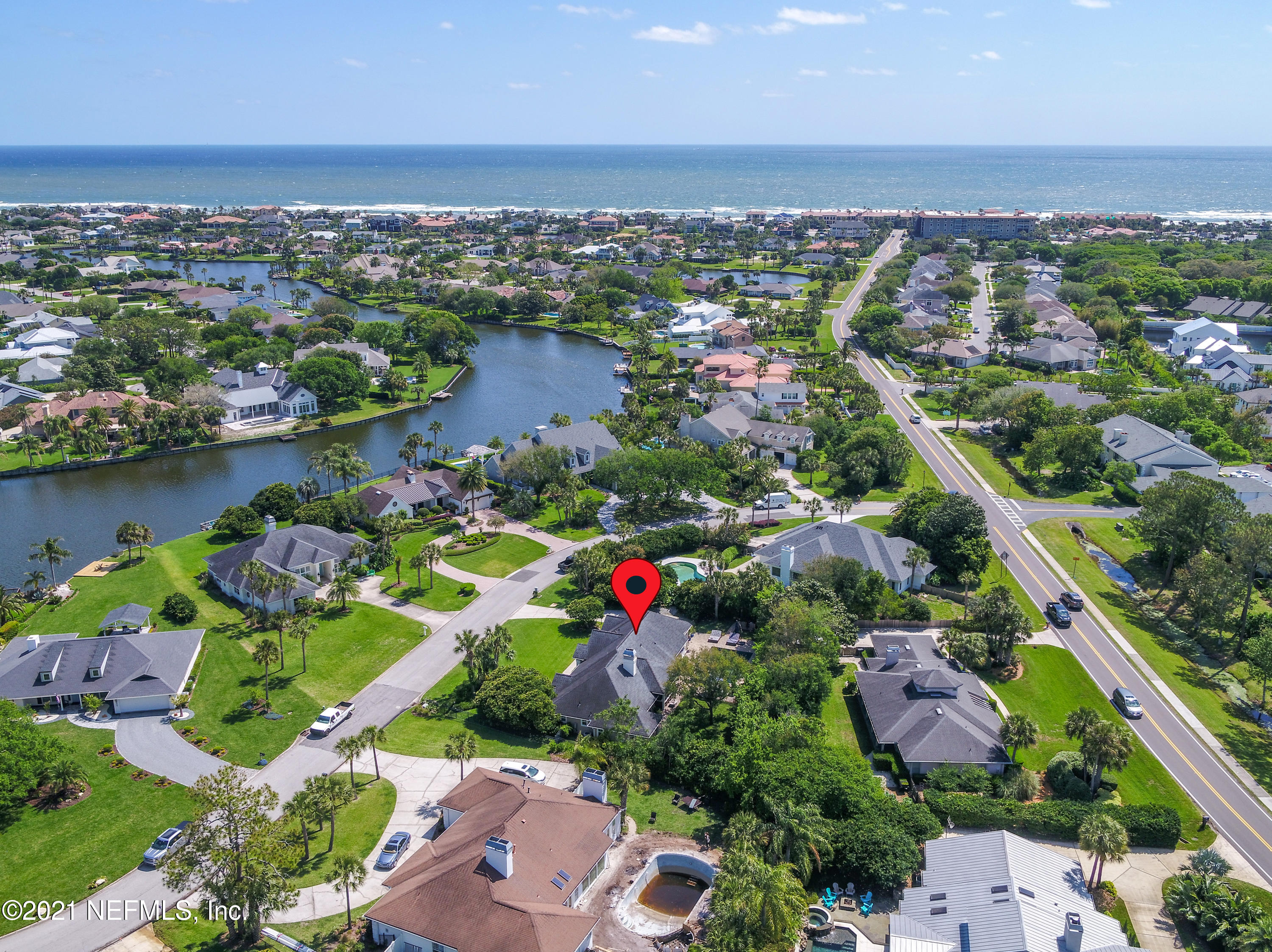 Open House 10-12 Sat May 1st Imagine living the Old Ponte Vedra lifestyle just steps to the beach & the Ponte Vedra Lodge & Club & Ponte Vedra Inn & Club.  This updated one level home has it all: marble & granite counter tops, walnut finished bamboo wide planked floors. 9+' smooth ceilings, Owner's suite w/ marble floors, shower & vanities, custom closets t/out, & recessed lighting throughout.  Enjoy the indoor /outdoor Florida lifestyle from your extra large backyard w/ saltwater pool, hot tub w/ a wonderful sounding waterfall.  Large covered lanai w/ outside pool bath & shower.  Sellers even put in extensive security system that conveys. This is a true entertainers delight in the heart of Old Ponte Vedra. A Rated St Johns County school system.  FULL GOLF INITIATION INCLUDED to MLCC. Professional photos coming this week