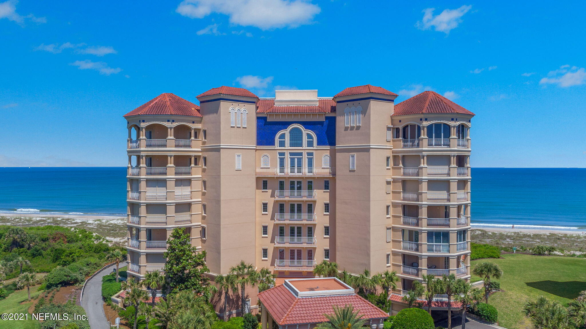 With spacious living areas in this luxury OCEANFRONT condo, you will enjoy a breathtaking view! This 7th floor PENTHOUSE villa features a 3-bed/3-bath floor plan, furnished (with exclusions), with balcony access from almost every room! The condo includes a breakfast nook, a formal dining room, and a living room which has a fireplace with built in entertainment center and balcony access. A comfortable kitchen has full view of the ocean and also features Corian(r) countertops, custom kitchen cabinets, solid surface GE range, utility room and pantry. The master bedroom has a beautiful ocean view and master bath also has an ocean view with walk-in shower, separate garden tub and ceramic tile floors. Other features for this villa include 11 foot ceilings, garage parking and private storage  area.